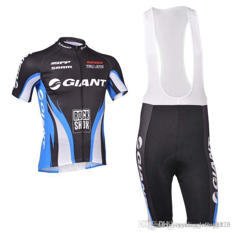GIANT Team Radhose mit kurzen Ärmeln setzt atmungsaktive und schnell trocknende Ropa Ciclismo Herren Sommer Radsportbekleidung Shorts sets00235