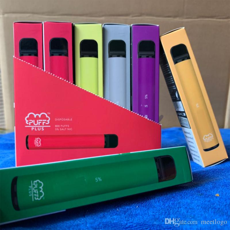 Hookah caliente Puff Plus desechables Pod dispositivo actualizado Bar 550mAh cigarrillo electrónico Vape Pen 800 soplos 3,2 ml CartridgesK Posh Plus