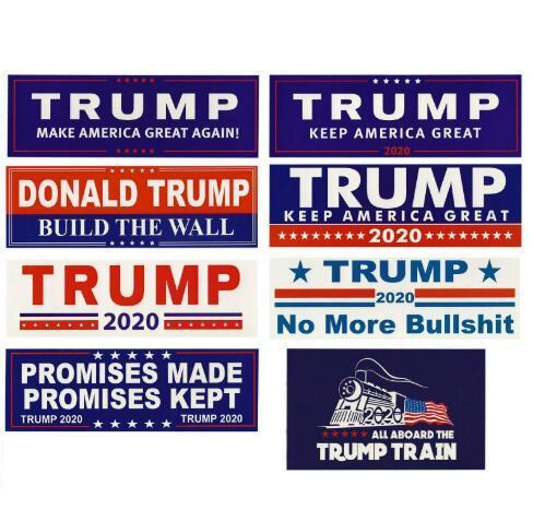 Donald Trump 2020 Autocollants de voiture autocollant pour voiture Gardez Marque Amérique Grande Decal pour la voiture Styling Véhicule Paster Nouveauté Articles Trump Stickers