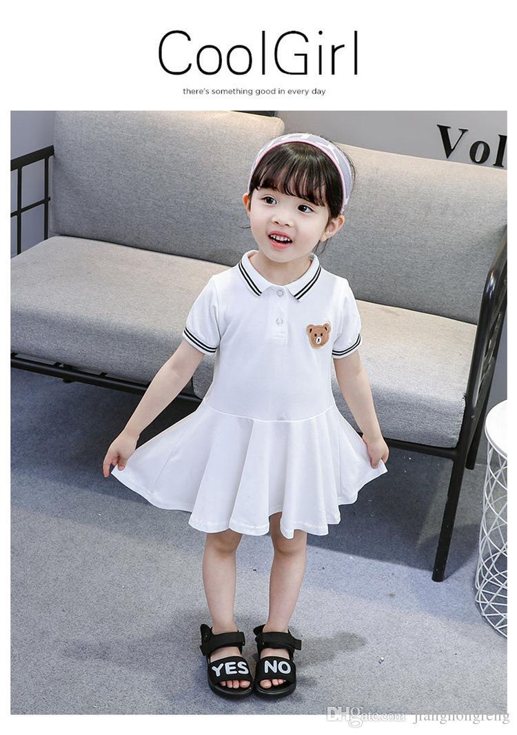 여자 드레스 2019 패션 여자가 드레스 자수 디자인 아기 소녀 드레스 아이 드레스 소녀들을위한 캐주얼 어린이 의류