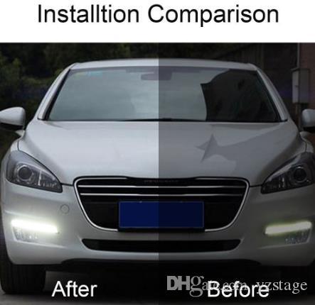 48W LED Car Daytime Running Lights Driving Lamp Daylight Indicator Lamp 12V