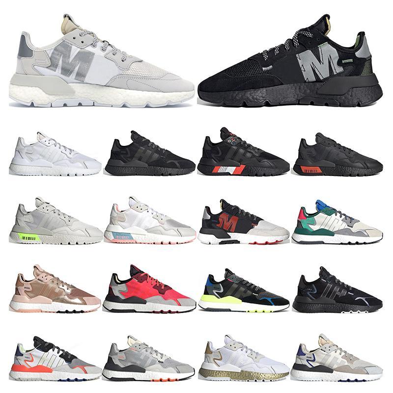 adidas nite jogger boost    réfléchissantes pour hommes femmes triple noir blanc respirant respirant baskets de sport taille 36-45 EQT  jogger