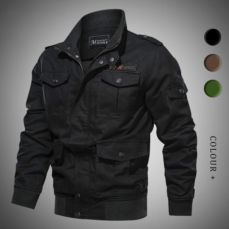 캐주얼 남성 재킷 봄 가을 코튼 브랜드 남성의 폭격기 재킷 아웃 도어 윈드 브레이커 전술 재킷에게 우편 위로 코트를 멀티 - 포켓