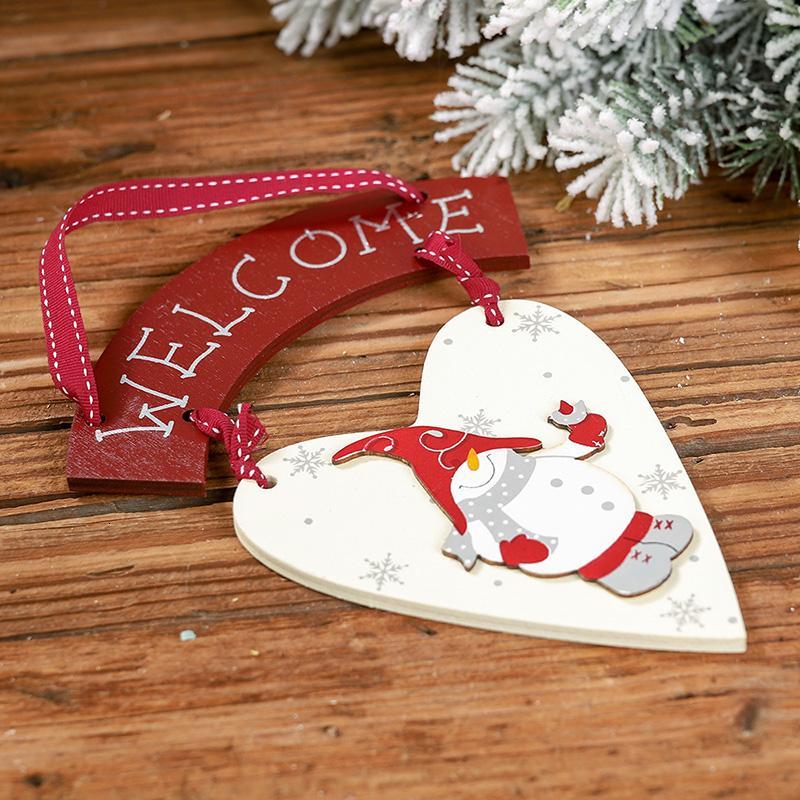 Bonhomme de neige de Noël Accueille avec satisfaction Liste Pendentif créatif Ornement d'arbre de Noël Hanging Décor de haute qualité SH190918