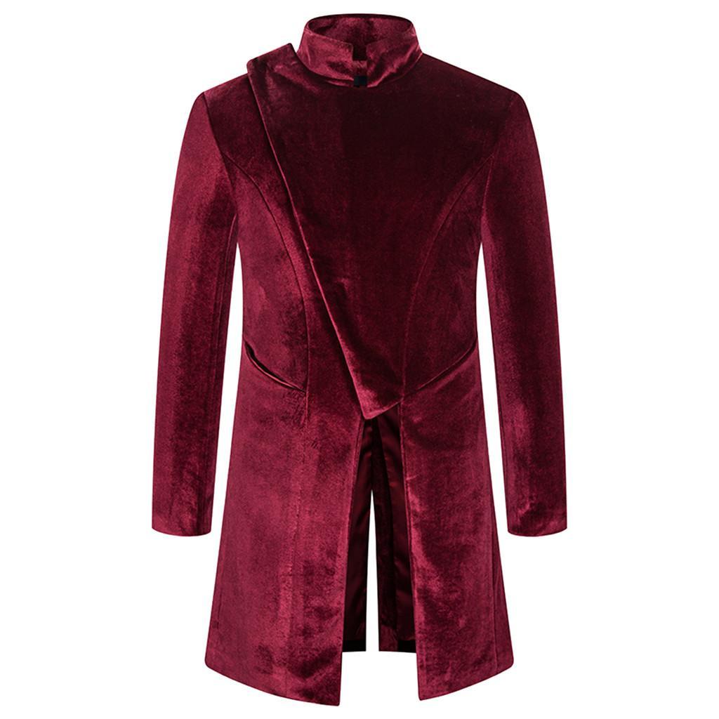 Jaycosin мужское пальто ретро готический стимпанк куртка мужчины старинные верхние одежды Пальто повседневной веткой кнопка мужская пальто пальто плюс размер