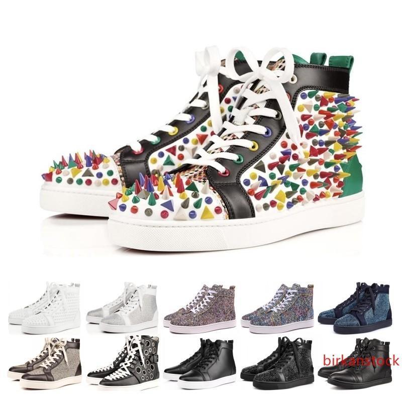 Dikenler Flats Ayakkabılar ler ayakkabı lüks Womens Parti Aşıklar Gerçek Deri Spor ayakkabılar çivili Sıcak Satış Tasarımcı Ayakkabı
