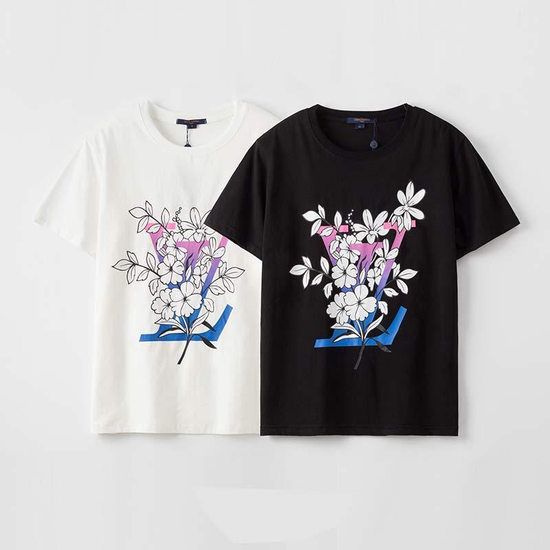 2020 мужские летом с коротким рукавом рубашки повреждения письмо печать мода простой тенниска хлопка удобные дышащие мужские тенниски