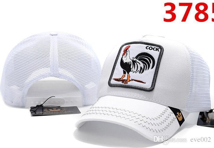 высокое качество роскошный дизайнер животных шапки новый популярный бейсболка мужчины и женщины лето европейская и американская мода личность хип-хоп шляпа