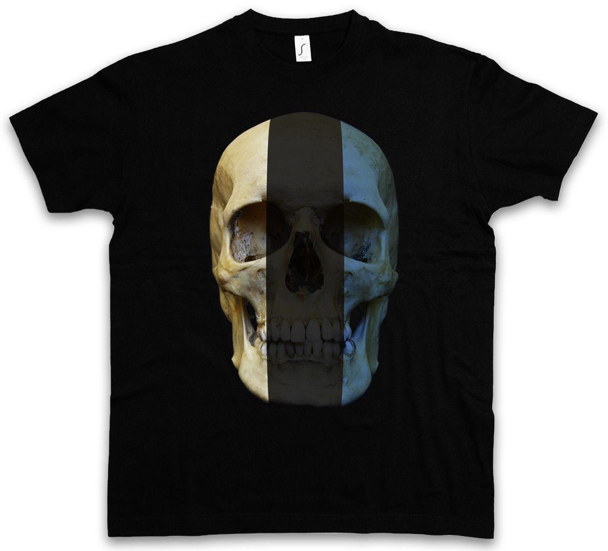 Camiseta clásica de la bandera del cráneo de Estonia Camisa Biker Mc Banner Tallas S 4xl