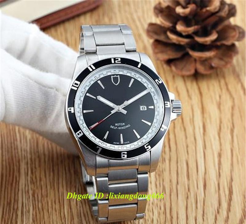 2019 best selling cronógrafo relógio 20500N quartzo japonês voando de volta pulseira de aço inoxidável mostrador preto dos homens dos esportes relógio dos homens
