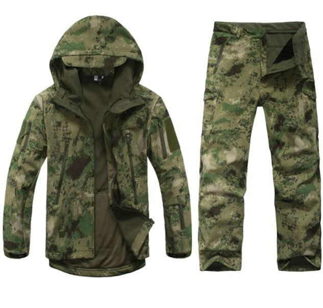 Fashion- Men Outdoor Waterproof Jackets Tad V 5 .0 Xs Softshell Hunting Outfit Thermal Clothes Tactical Camping Hiking Breath Sport Suit