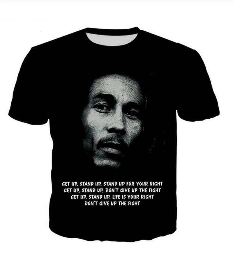 Uomo sportivo Womans Reggae Bob Marley 3D HD T-shirt stampata a maniche corte estiva maglietta del O-collo camicia di stile di modo unisex di marca Tees WR003