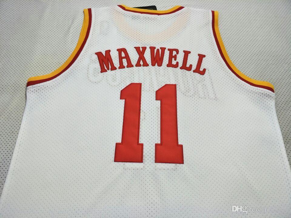 Benutzerdefinierte Männer Jugend Frauen Weinlese # 11 Vernon Maxwell 1993-1997 College Basketball-Jersey-Größe S-4XL oder benutzerdefinierten beliebigen Namen oder Nummer Jersey