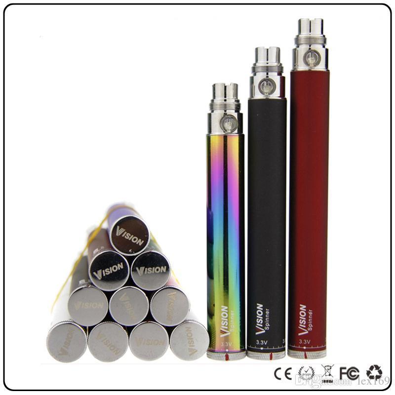 Vision Spinner Batterie Ego c Twist 3,3-4,8 V variable Spannung VV V1 Vape Pen 650 900 1100 1300 mAh Ecig V1 Vape
