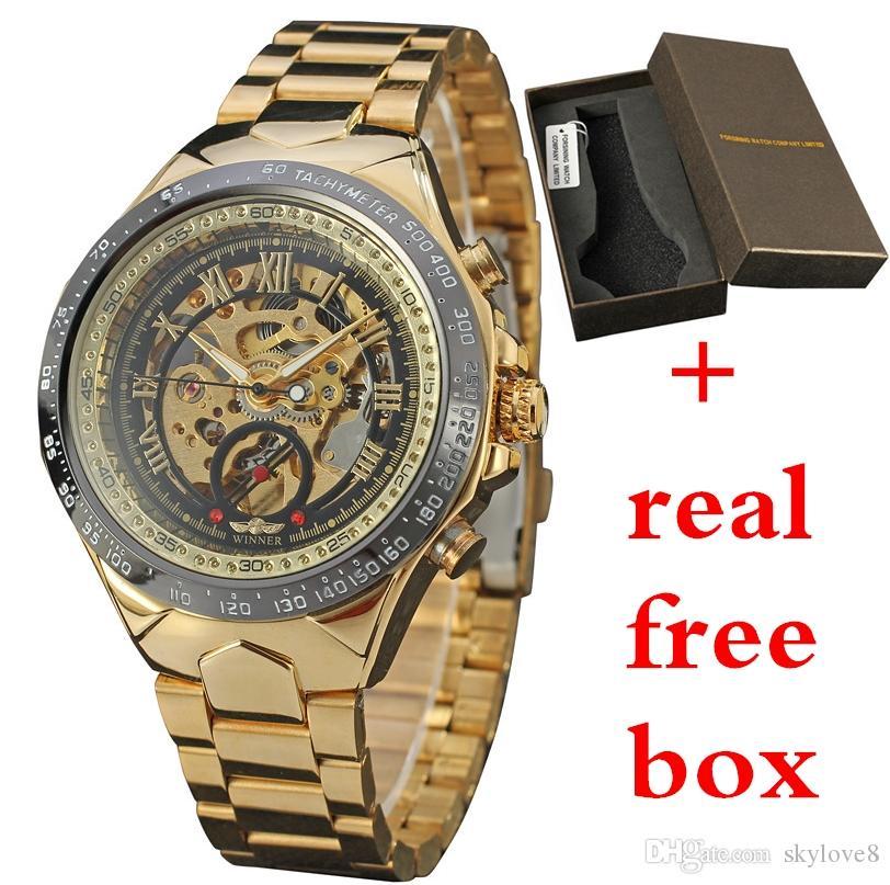 Les montres mécaniques creuses automatiques de montres mécaniques très populaires pour hommes ne disparaissent pas avec les montres durables de haute qualité