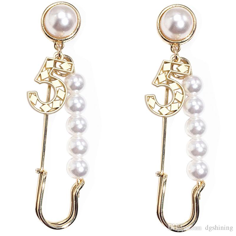 Earrings with Crystal Pearl Big Long Earrings Jewelry for Women Red Green White Yellow Colorful Stone Gift 10 Colors DHL