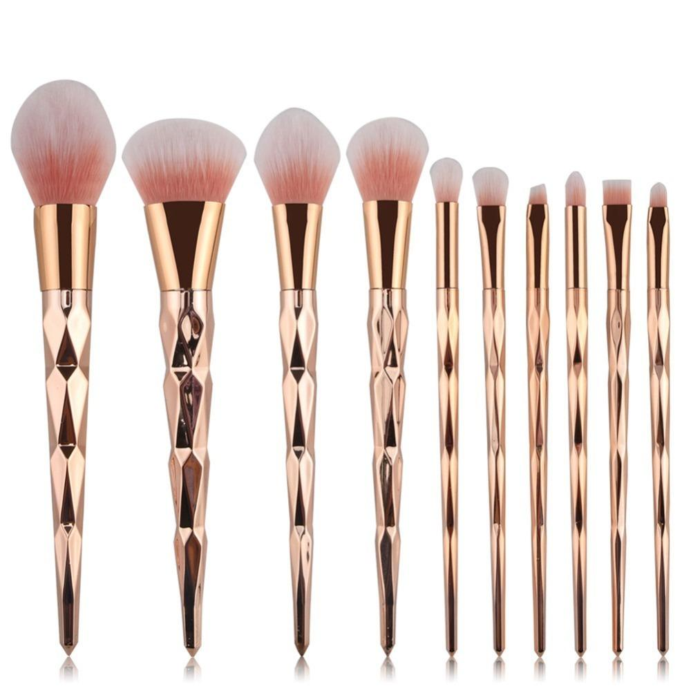 Set Of Brushes And Makeup Kit Rose Gold Lip Make-up Tools 2019