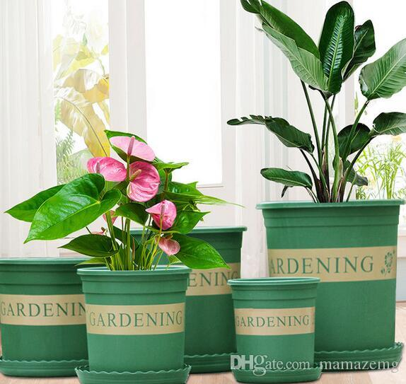 Free shipping Wholesales Flower pot plastic 1.5 gallon potted plant indoor fleshy green rose rose resin gallon flower pot