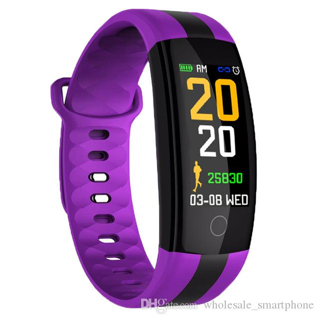 QS01 Smart-Armband Fitness Tracker Blutdruck-Puls-Monitor-Smart Watch Wasserdichte Sport-Smart-Armbanduhr für iPhone iOS Android