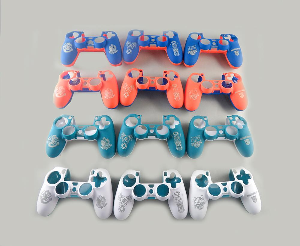Plastic Hard Shell For Sony Playstation 4 For PS4 JDM-010 JDM-001 Controller Housing Cover Rubber Protective Shell Skin Case