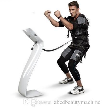 무료 새로운 EMS xbody 피트니스 기계를 세금 / 전자 근육 자극기 / 건강 관리 피트니스 Sliming 바디 EMS 트레이닝 슈트 스탠드 장치