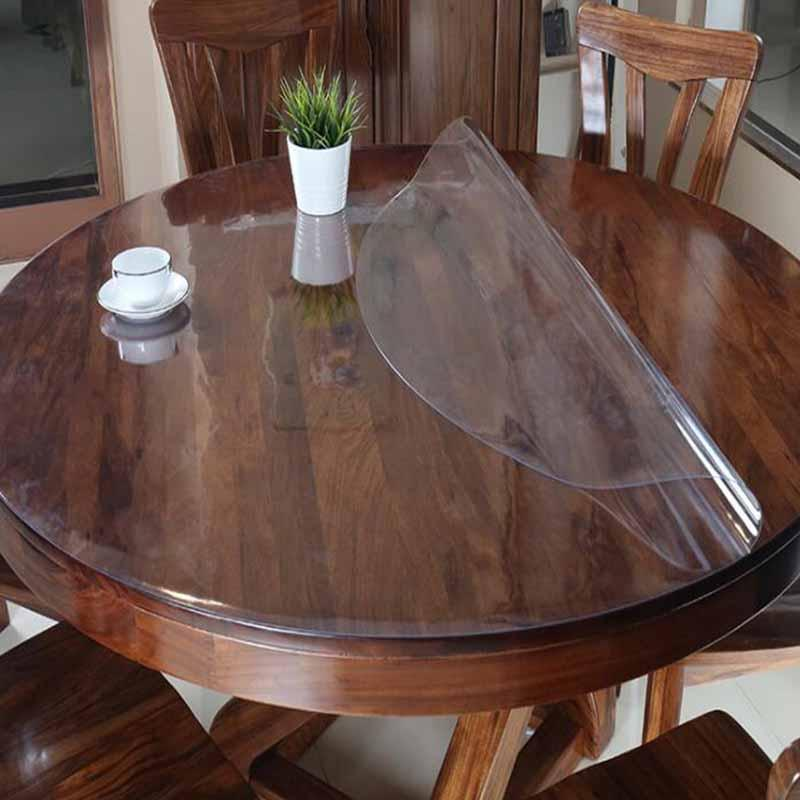 PVC مفرش المائدة الجدول القماش مفرش المائدة شفاف مقاوم للماء الرئيسية مطبخ الديكور نمط النفط مفرش المائدة الزجاج قماش ناعمة 1.0MM