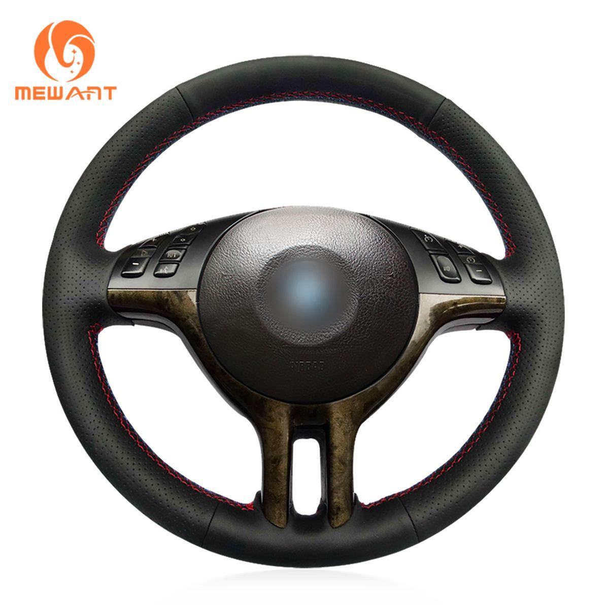 Genuine Leather Steering Wheel Cover for BMW E36 E36//5 E46//5 5 Series E39 M3 M5
