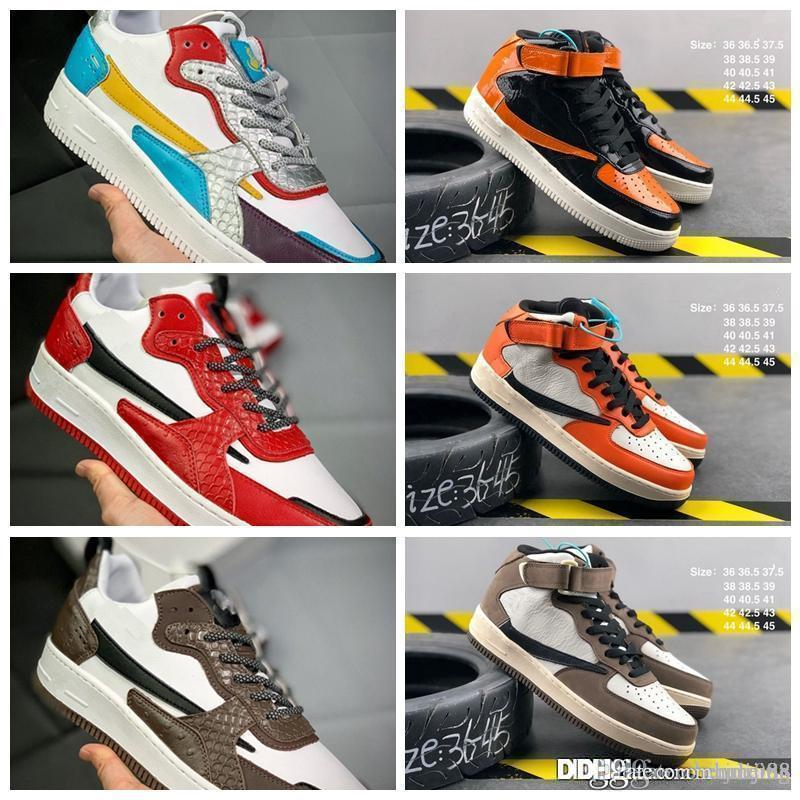 1 High OG Travis Скоттс Кактус Джек замша Dark Mocha TS SP 3M Баскетбол Обувь для мужчин 1S кроссовки с коробкой