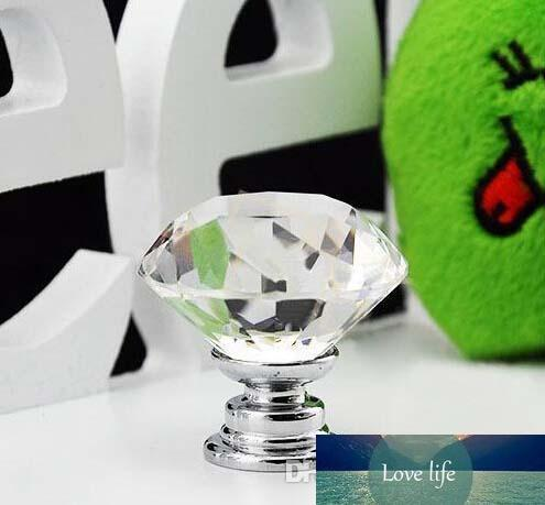 Diamond Shape six colors Crystal Glass Cabinet Handle Cupboard Drawer Knob Pull