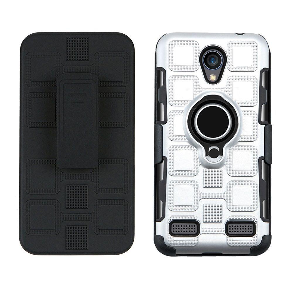 10 adet / grup Zırh TPU Yumuşak Parmak Yüzük Standı Tutucu Telefon Kılıfı Kapak Için ZTE A520 A602 L7 Bir 520 Bir 602 L 7 ZTE A602 A520