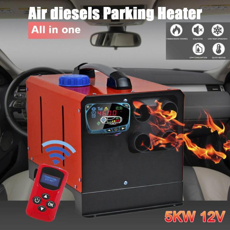 Car Heater 12V24V5KW Auxiliary Heater In Electric Heaters All In One Air Diesels Parking LCD Screen Switch Remote Control