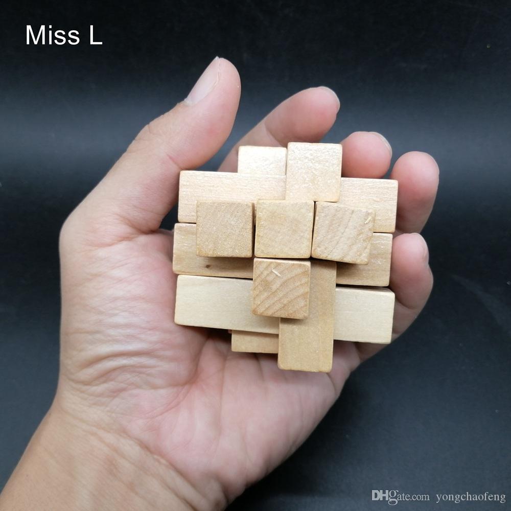 Tetris Forma Lu Ban Blocco Kong Ming Legno Puzzle Rompicapo Toy