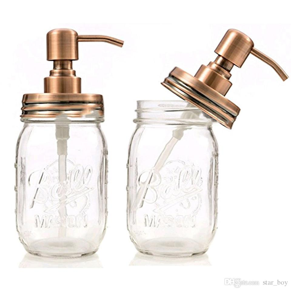 2019 Bathroom Kitchen Soap Dispenser With 16 Ounce Ball Mason Jar Made From  Rust Proof Stainless Steel Suitable For Soap Lotion Replace Lid From ...