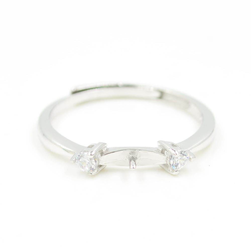 Оптовая продажа S925 стерлингового серебра кольцо крепления прекрасный дизайн для женщин жемчужные украшения diy бесплатная доставка регулируемое открытие