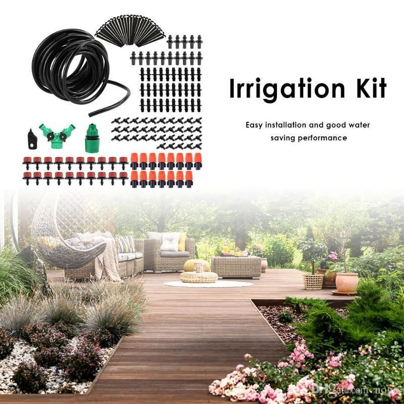 5-50M DIY Micro Drip Irrigation System Garden Flower Watering Hose Set  Drippers