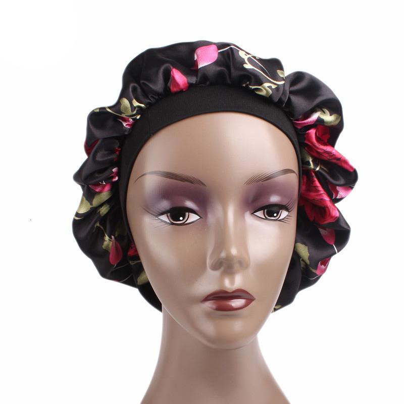 High Quality Wide Band Satin Bonnet Femme Cap Beanie Comfortable Night Sleep Winter Hat Hair Loss Cap Hats For Women Caps Men