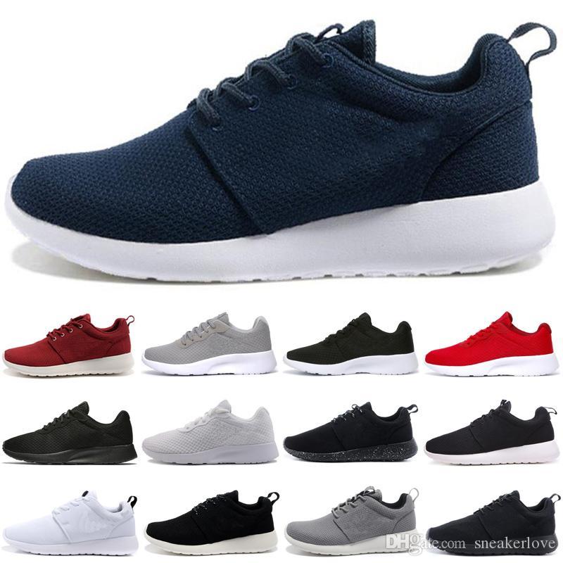 Venta caliente 1.0 3.0 Zapatos casuales Tanjun Hombres Mujeres todo negro con símbolo blanco Triple Negro blanco London Hombres Zapatos casuales