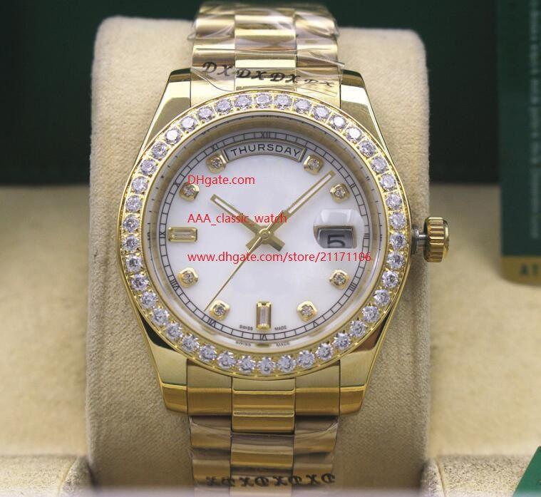 Fabrika alanı Yüksek kaliteli saatı Safir Cam 41mm 116610 Beyaz Dial Diamond Bezel Otomatik Mekanik Erkek Erkek İzle Saatler