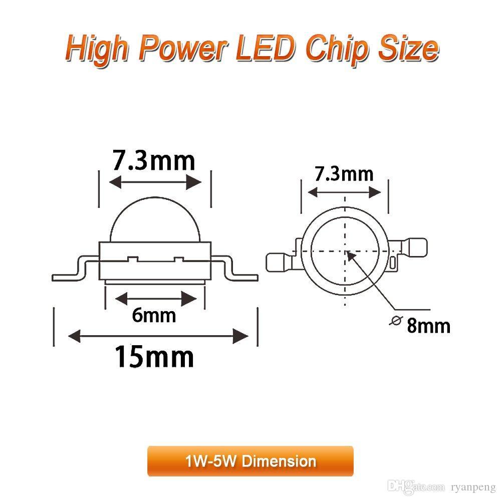 10PCS 1W High Power warm White LED Light 3000k-3500k Emitter
