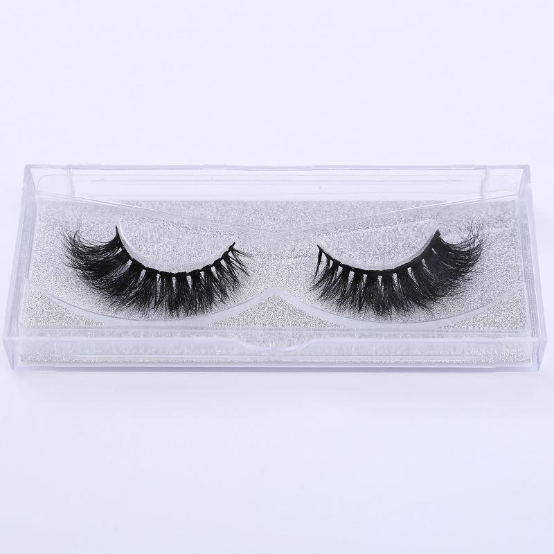 3D mink false eyelashes natural curling hot sale end elongate long Eyelashes cross border explosion Free shipping