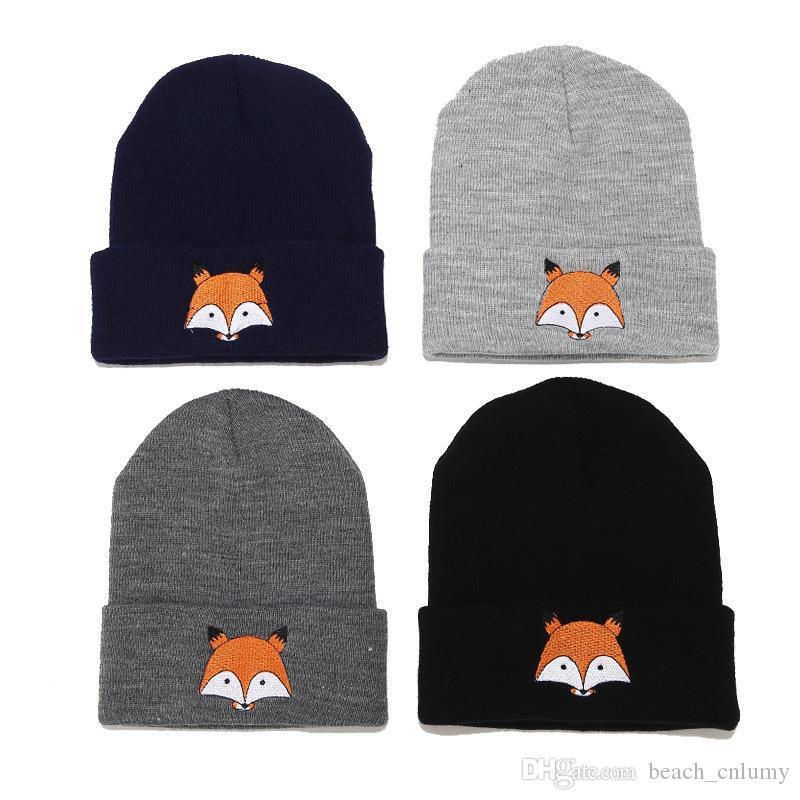 New Knitted Winter Caps Women Men Soft Warm Beanie Knit Cap Crochet Elasticity Hats Skullies Female Ear Embroidery Animal Hat accessories