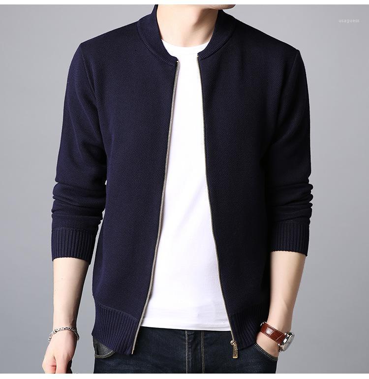 Mens Designer Pullover mit V-Ausschnitt Reißverschluss Sweatshirts Fashion Pure Color Langarm-Strickjacke Hoodies Mens Lässige Kleidung