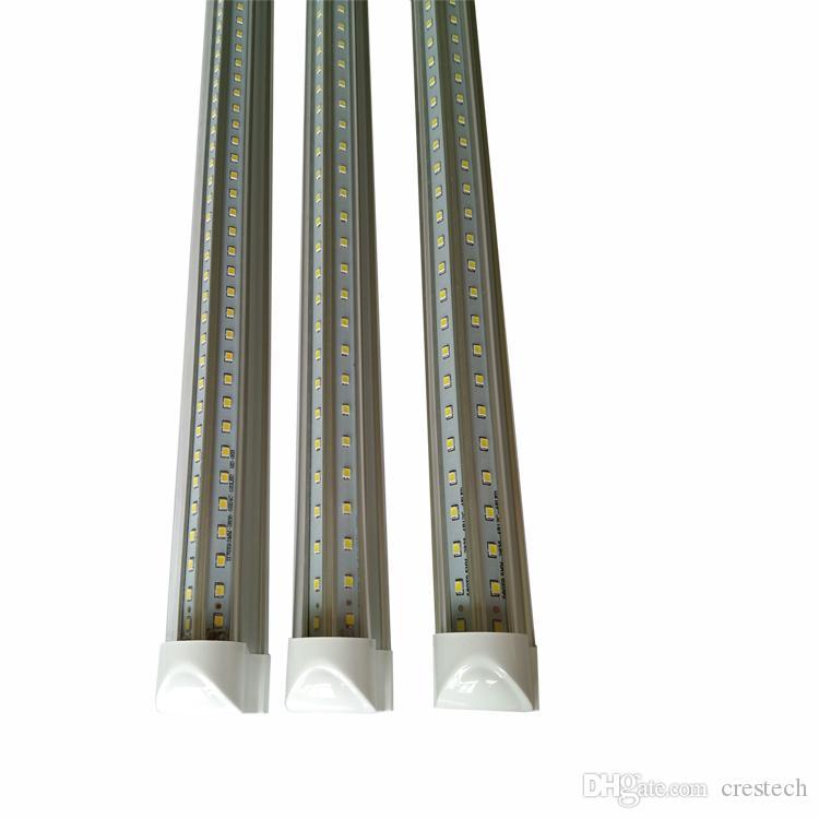 V-Shaped led tubes 8ft double 4ft 5ft 6ft 8ft Cooler Door Shop Lights T8 Integrated Led Shop Tubes Double Sides SMD2835 Led Lights