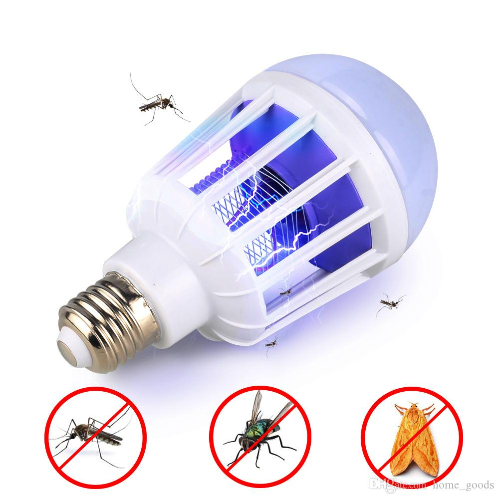 Mosquito Killer Lamp Pest Repeller 2 in1 E27 LED Bulb 15W 220V 110V Electronic Trap Bug Zapper Anti Insect Wasp Indoor Night Light
