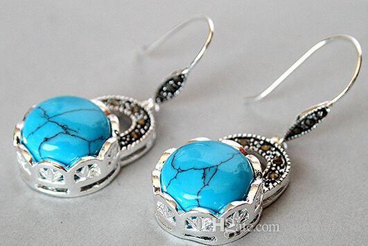 """brinco brincos gros charme bonne dame 925 argent pierre boucles d'oreilles Marcassite 14/5 """"pour les bijoux des femmes"""