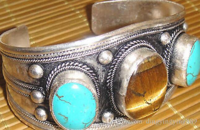 браслет 911 + + + тибетский тигровый глаз камень Браслет