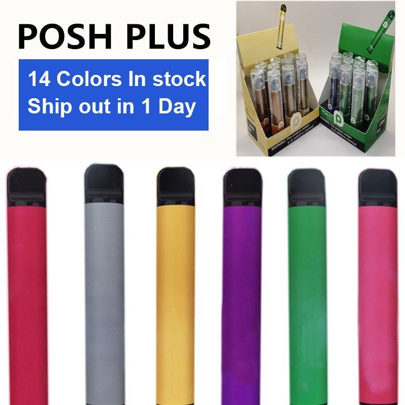 vape descartável Posh Além disso descartável Dispositivo Pod 450mAh Battery 2,0 ml Pens Vape Cartridge Embalagem cigarros eletrônicos vazios vapor vs folhada