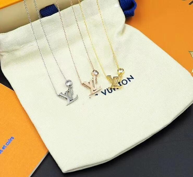 L Top Luxury Design Collier de haute qualité collier de diamants de la mode Couple Collier personnalisé coffret d'alimentation