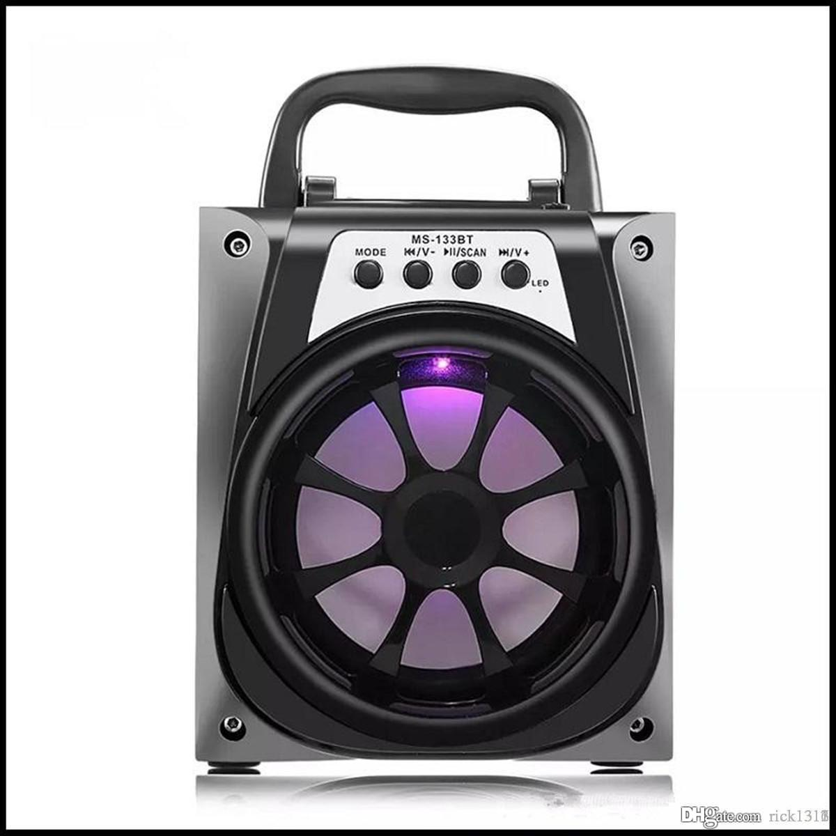 EUB MS-133BT LED Wireless Bluetooth Portable Speaker with USB MP3 TF AUX Interface and FM Radio Outdoor Bass for Android Apple and PC