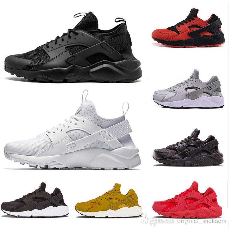 huarache 2019 1.0 4.0  الاحذية للنساء الرجال كروش أبيض أسود أحمر وردي المدربين الرياضية الرجال حذاء رياضة عداء